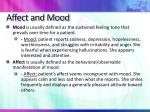 affect and mood