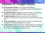 disorders of thought process
