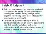 insight judgment