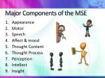 major components of the mse