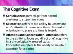 the cognitive exam1