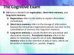 the cognitive exam3