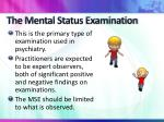 the mental status examination