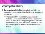 visuospatial ability