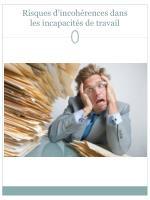 risques d incoh rences dans les incapacit s de travail