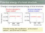 potential energy of a local structure