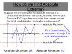 how do we find absolute extrema