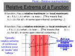relative extrema of a function