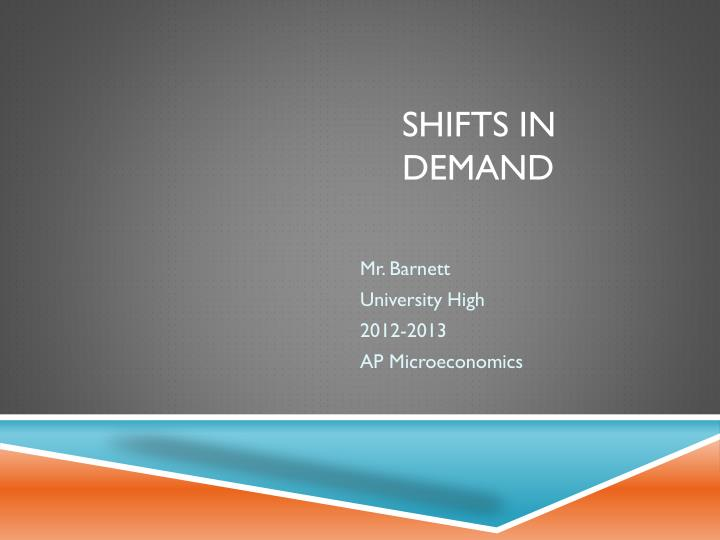shifts in demand n.