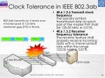 clock tolerance in ieee 802 3ab