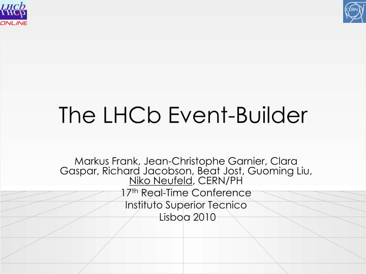 the lhcb event builder n.