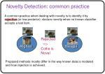 novelty detection common practice