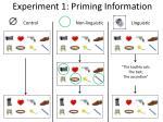 experiment 1 priming information