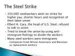 the steel strike