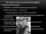 the rise of the civil rights movement1