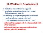iii workforce development