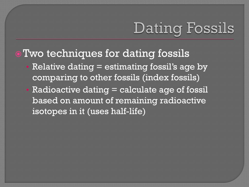 radioactive isotopes used for dating fossils