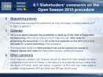 ii 1 stakehoders comments on the open season 2015 procedure10