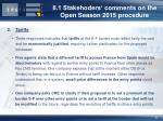 ii 1 stakehoders comments on the open season 2015 procedure2