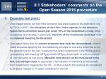 ii 1 stakehoders comments on the open season 2015 procedure6