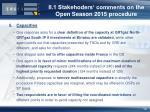 ii 1 stakehoders comments on the open season 2015 procedure9