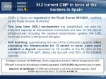 iii 2 current cmp in force at the borders in spain