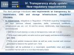 iv transparency study update new regulatory requirements