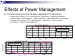effects of power management