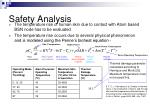 safety analysis