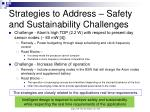 strategies to address safety and sustainability challenges