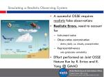 simulating a realistic observing system