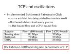 tcp and oscillations