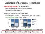 violation of strategy proofness