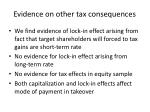 evidence on other tax consequences