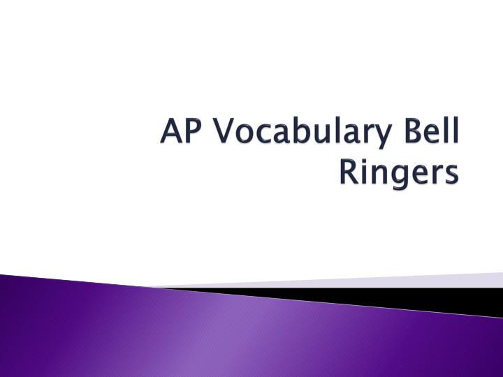 ap vocabulary bell ringers n.