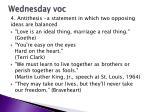 wednesday voc