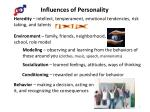 influences of personality