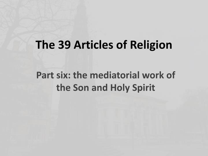 the 39 articles of religion n.