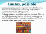 causes possible