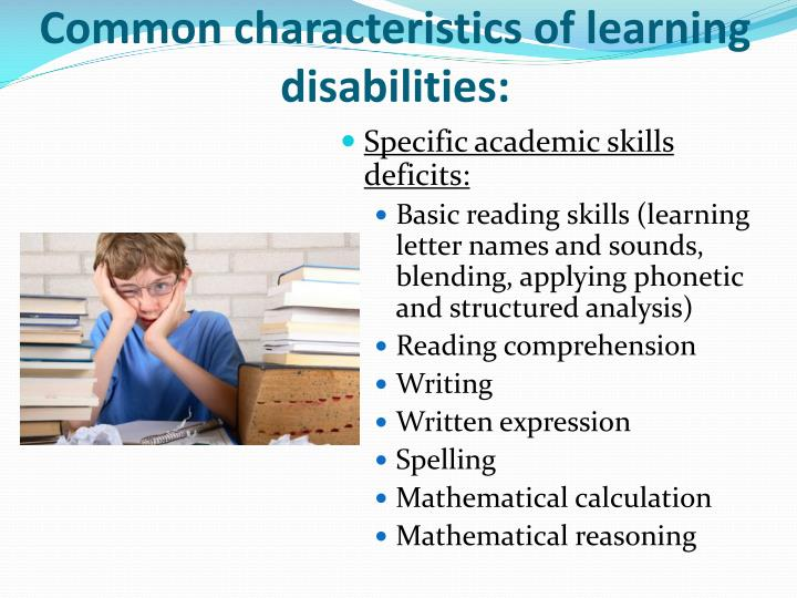 self concept of students with learning disabilities Adolescents with learning disability have a positive influence on their self esteem it helps them to maintain a constructive relationship with their peers, teachers and parents.