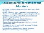 local resources for families and educators