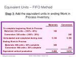equivalent units fifo method3