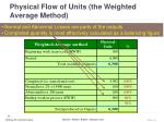 physical flow of units the weighted average method