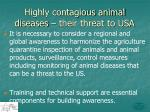 highly contagious animal diseases their threat to usa1