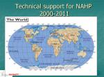 technical support for nahp 2000 2011