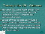 training in the usa outcomes