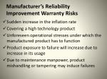 manufacturer s reliability improvement warranty risks