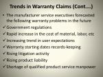 trends in warranty claims cont1