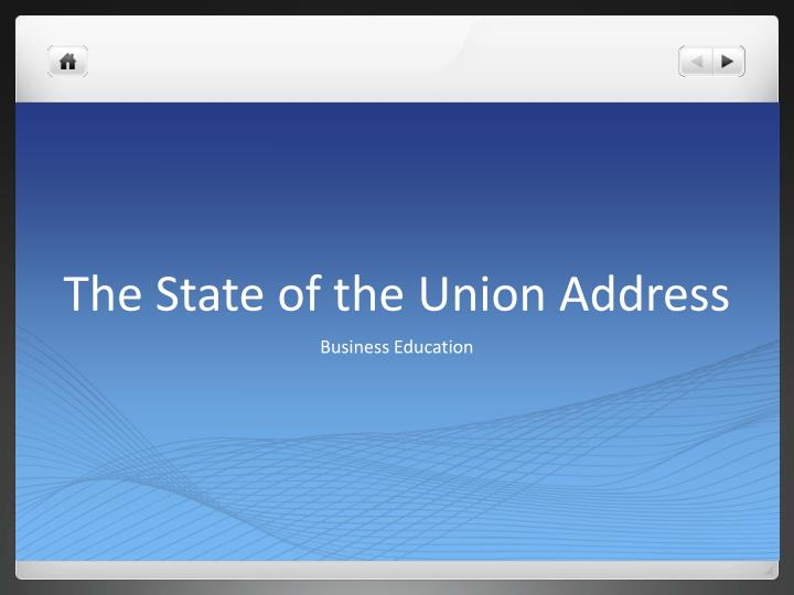 the state of the union address n.