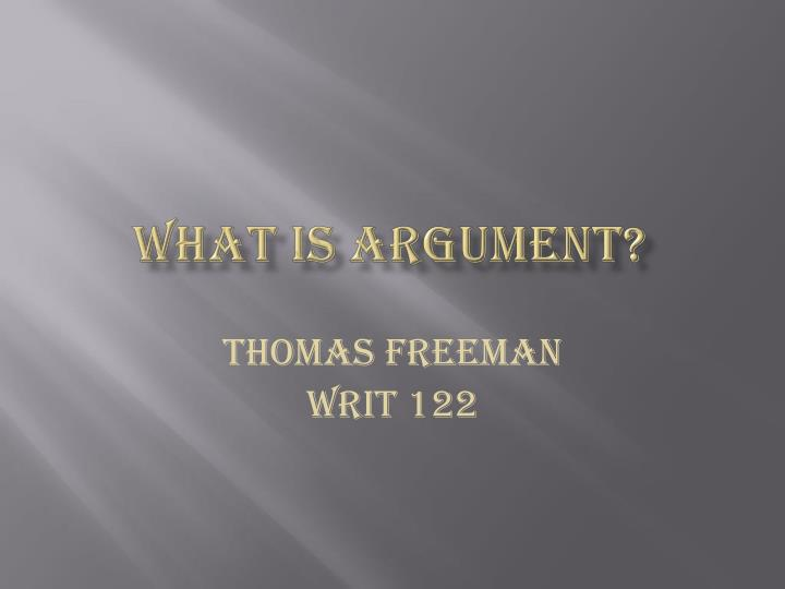 what is argument n.